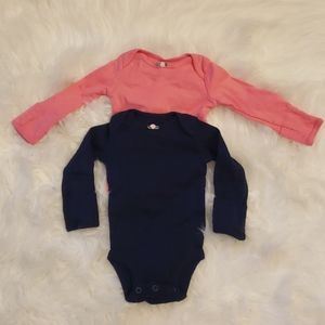 2 long sleeve baby onesies